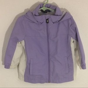 Land's End Rain Jacket with Mesh Lining and Hood